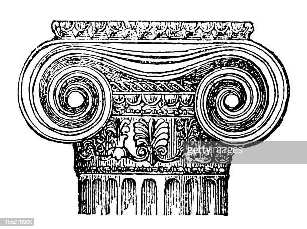 greek style column - corinthian stock illustrations, clip art, cartoons, & icons