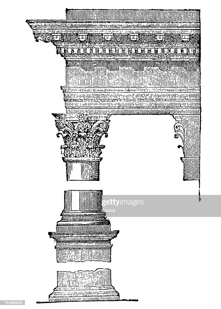 Greek style column : stock illustration