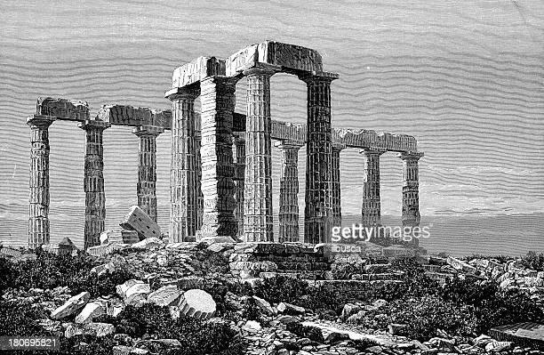 ilustraciones, imágenes clip art, dibujos animados e iconos de stock de templo griego ruinas - roman goddess