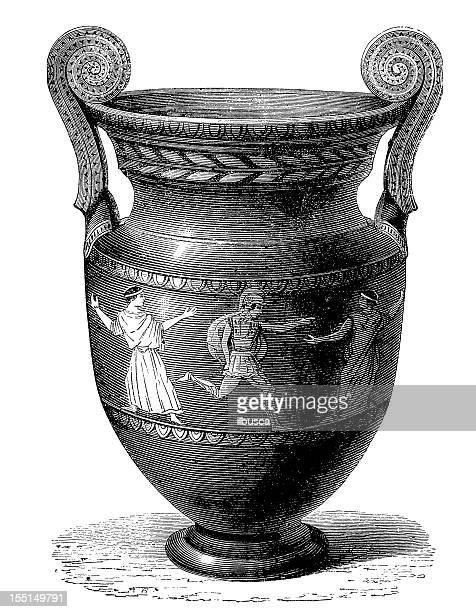 greek vase - decorative urn stock illustrations