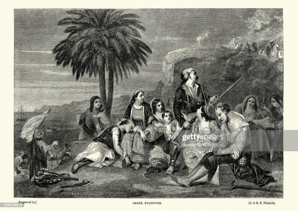 Greek War of Independence, The Fugitives : stock illustration