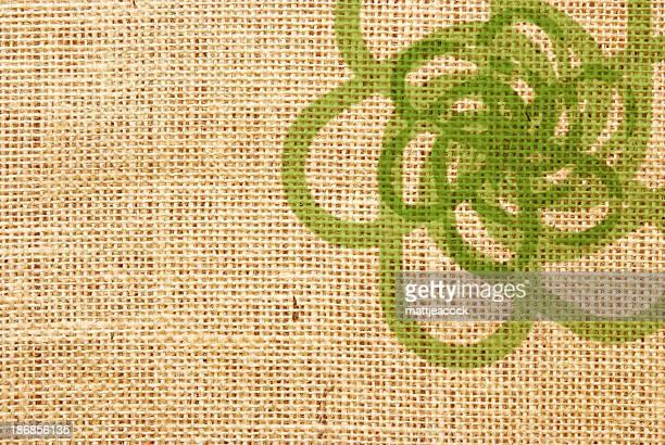 グリーンの抽象的な背景 - 荒い麻布点のイラスト素材/クリップアート素材/マンガ素材/アイコン素材