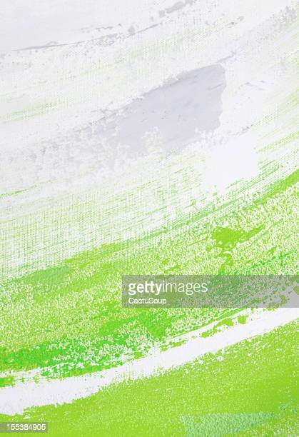 Green and white paint.