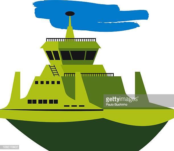 ilustrações de stock, clip art, desenhos animados e ícones de a green boat - buchinho