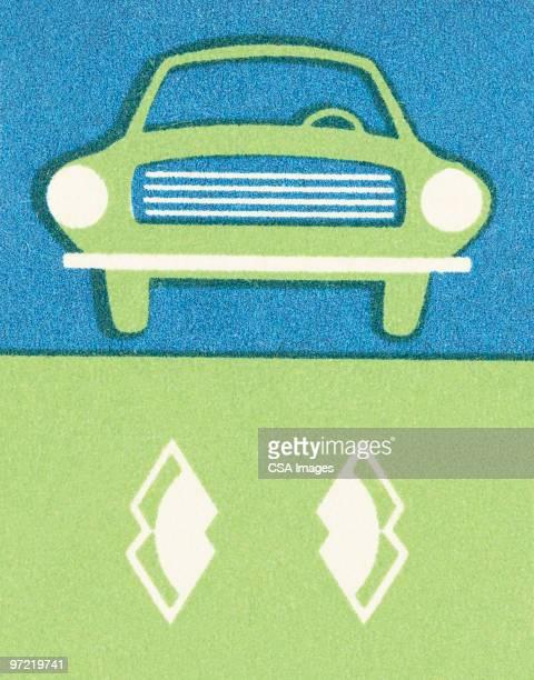 green car - sedan stock illustrations, clip art, cartoons, & icons