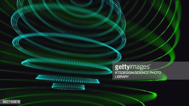 ilustraciones, imágenes clip art, dibujos animados e iconos de stock de green circles, illustration - turning