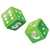 green dice