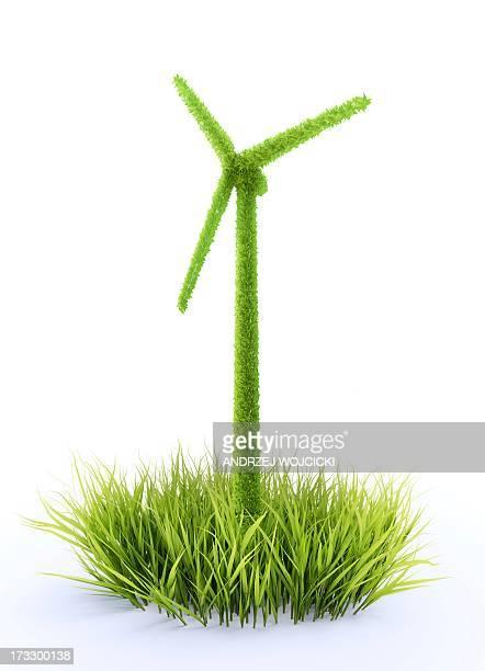 illustrations, cliparts, dessins animés et icônes de green energy, conceptual artwork - herbe