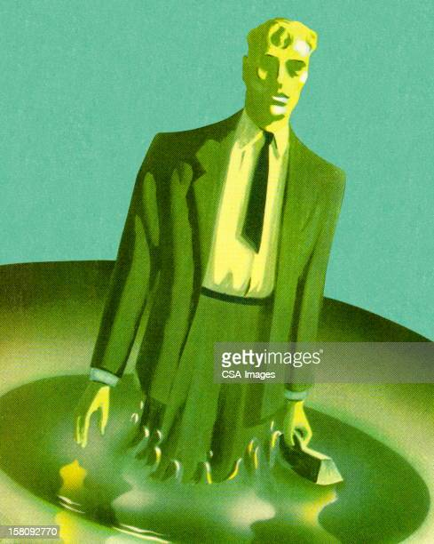 Green Man in Green Suit