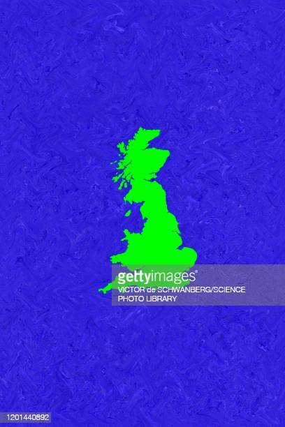 green map of england, scotland and wales - artistic product stock illustrations