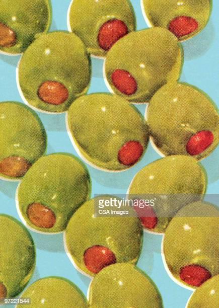 green olives - image stock illustrations