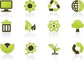 Green PC Icon Set