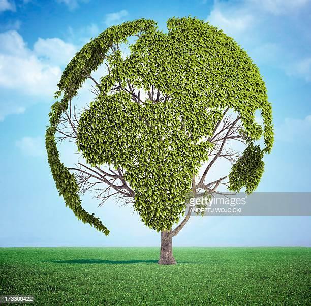 ilustraciones, imágenes clip art, dibujos animados e iconos de stock de green planet, conceptual artwork - ecosistema