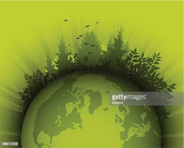 ilustraciones, imágenes clip art, dibujos animados e iconos de stock de green planet - grupo mediano de animales