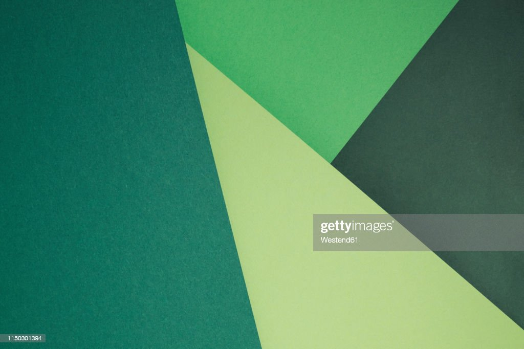 Green set of paper as an abstract background : stock illustration