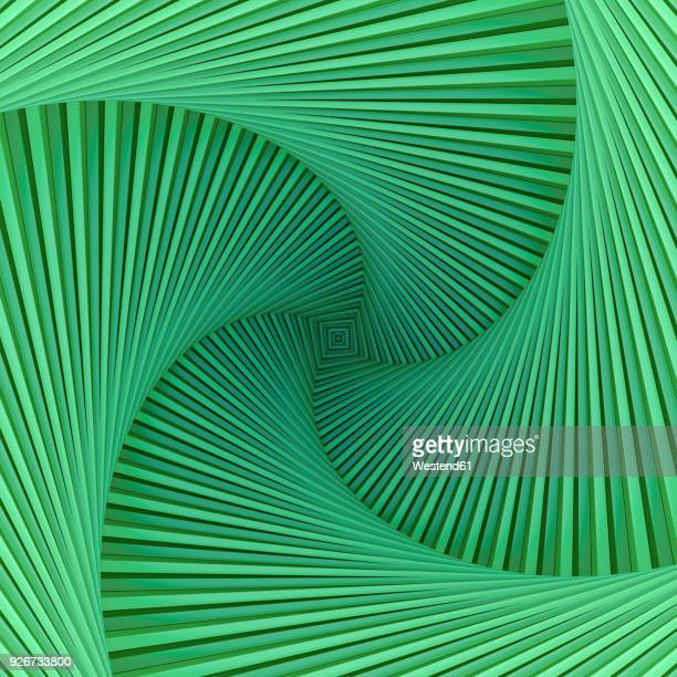 green spiral with square center - growth stock illustrations