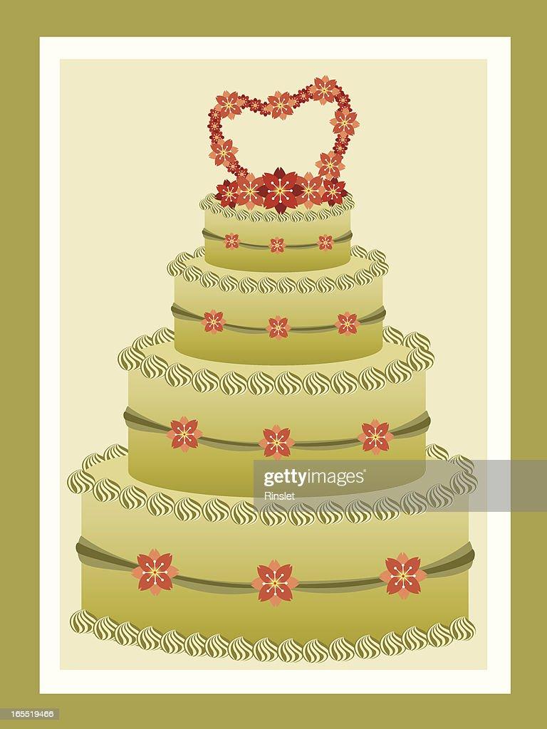 Green Tea Wedding Cake Vector Art   Getty Images