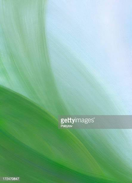 green-blue abstract painted background - brightly lit stock illustrations