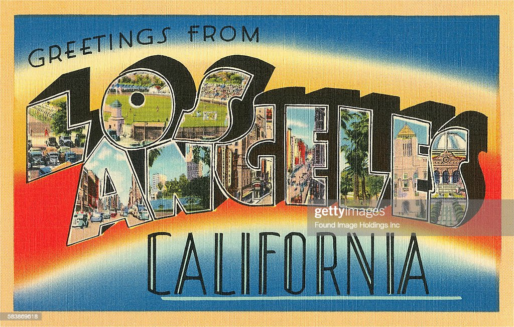 Greetings from los angeles california large letter vintage news greetings from los angeles california news photo m4hsunfo