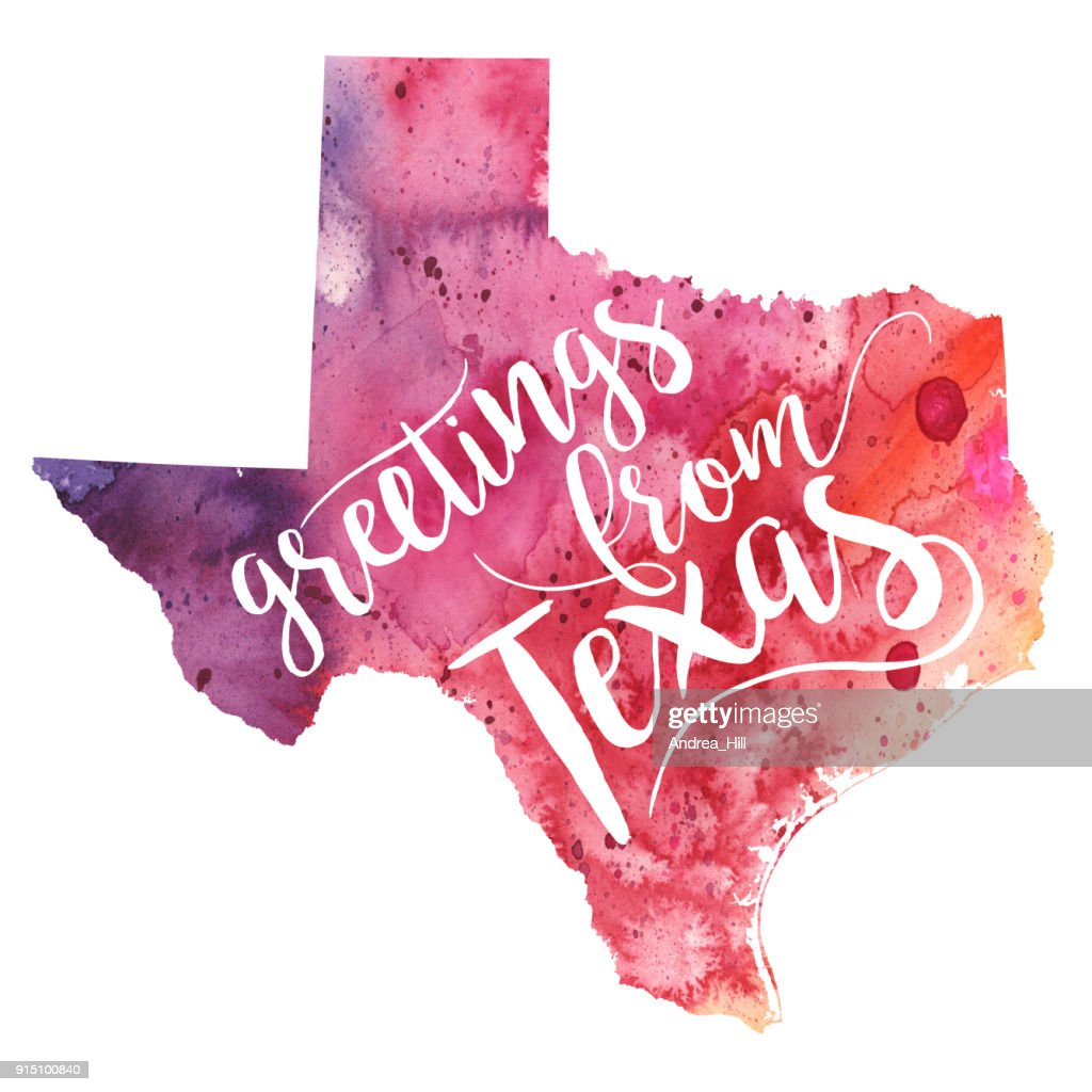 Greetings from texas watercolor map raster illustration stock greetings from texas watercolor map raster illustration stock illustration kristyandbryce Choice Image