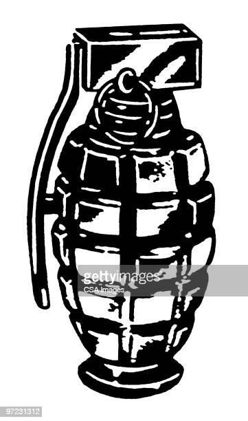 grenade - war stock illustrations