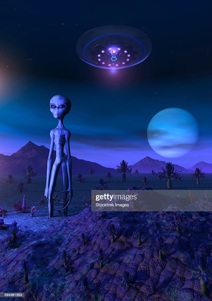 A Grey Alien Located On Its Homeworld Of Zeta Reticuli stock