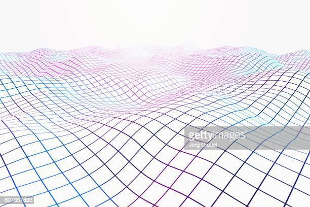 illustrazioni stock, clip art, cartoni animati e icone di tendenza di grid landscape - motivo a griglia