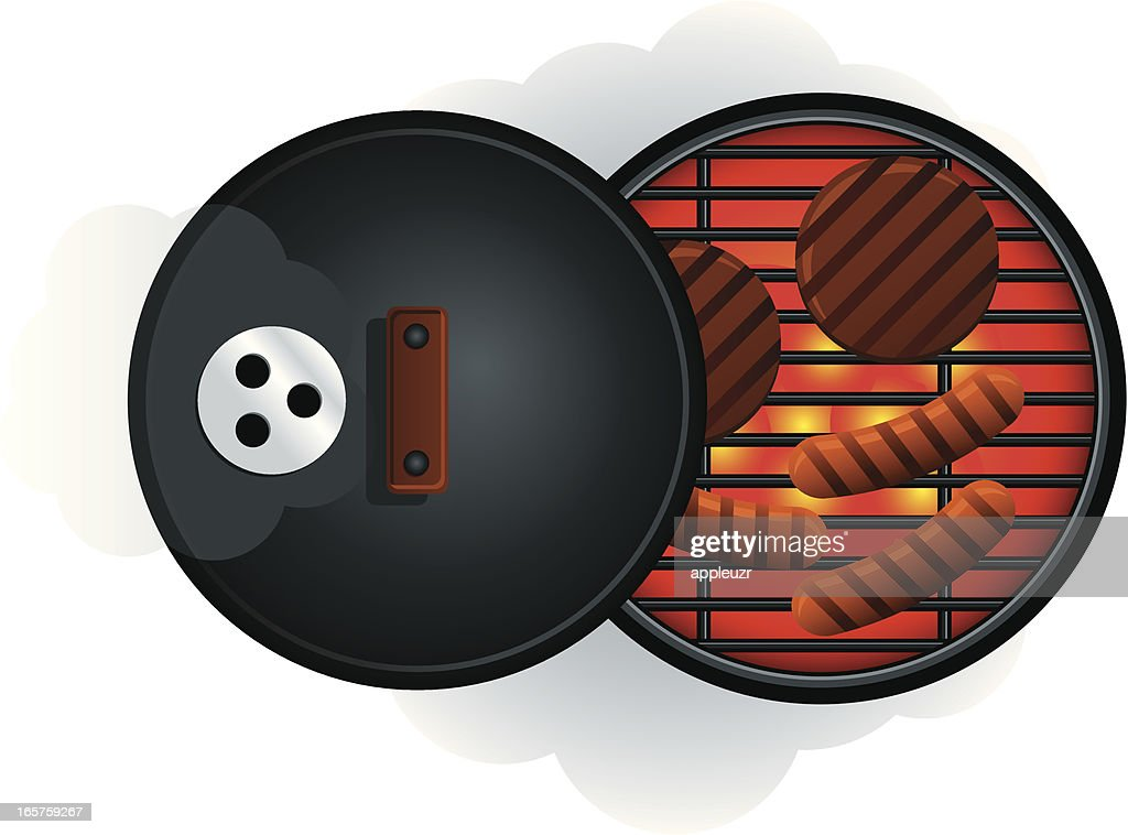 BBQ Grill From Above : stock illustration