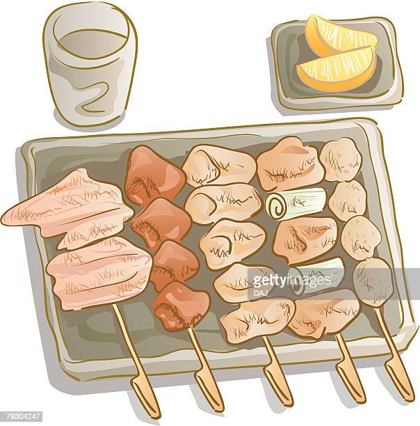 18 焼き鳥 Stock Illustrations Clip Art Cartoons Icons Getty Images