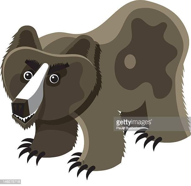 ilustrações de stock, clip art, desenhos animados e ícones de a grizzly bear - buchinho