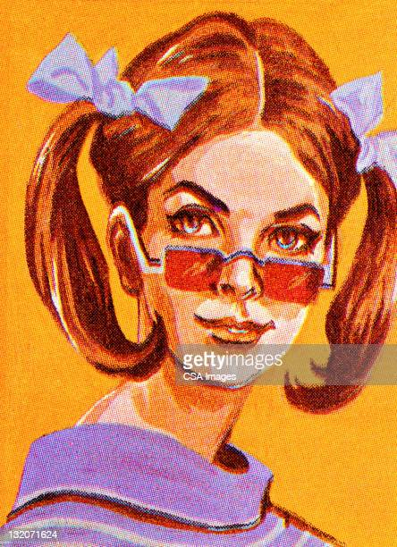 Groovy Girl With Sunglasses