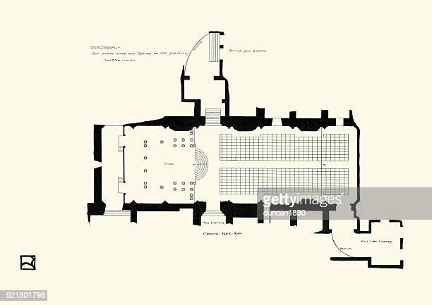 Ground plan of the Guildhall, London, 1900