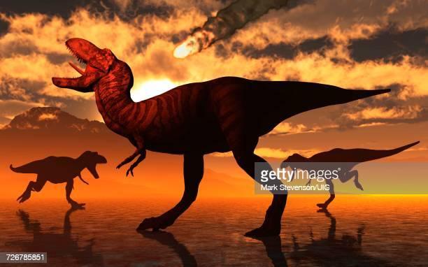group of cretaceous hadrosaur velafrons dinosaurs - hadrosaurid stock illustrations, clip art, cartoons, & icons