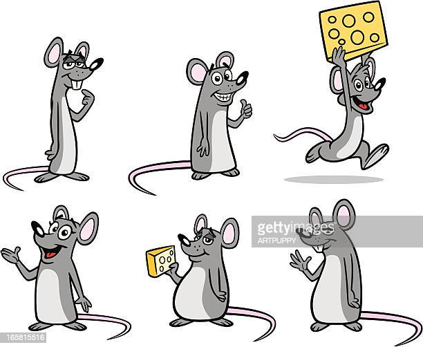 group of mice - rat stock illustrations, clip art, cartoons, & icons