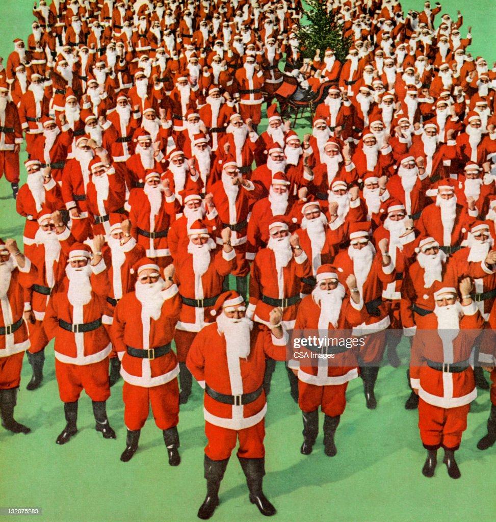 Group of Santas : stock illustration