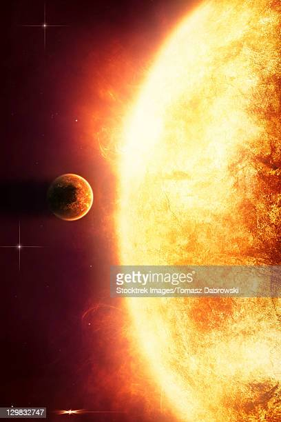 Growing Sun is about to burn nearby planet alive.