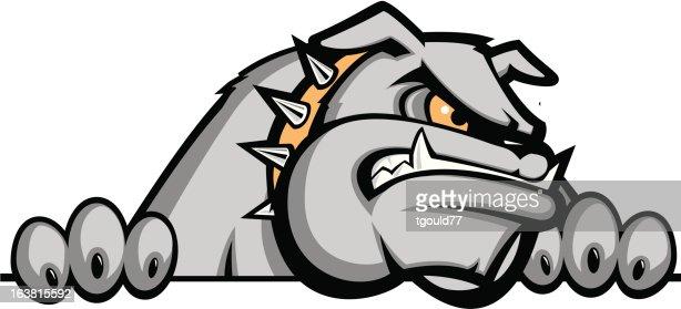 growling bulldog vector art | thinkstock