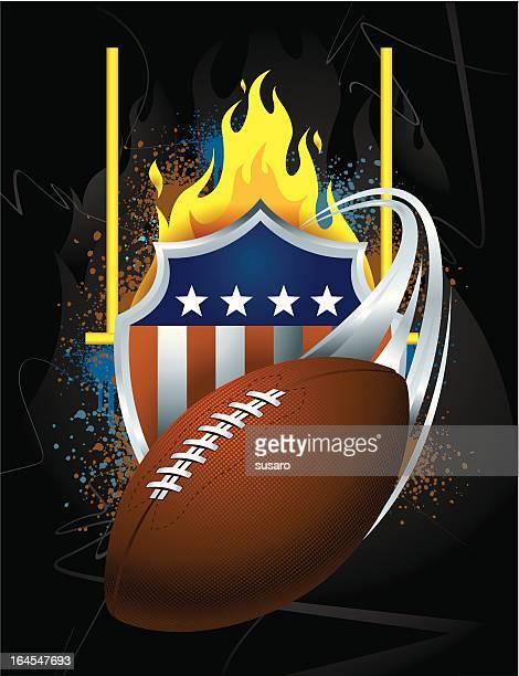 グランジのアメリカンフットボールのアイコン - アメリカンフットボールのフィールドゴール点のイラスト素材/クリップアート素材/マンガ素材/アイコン素材