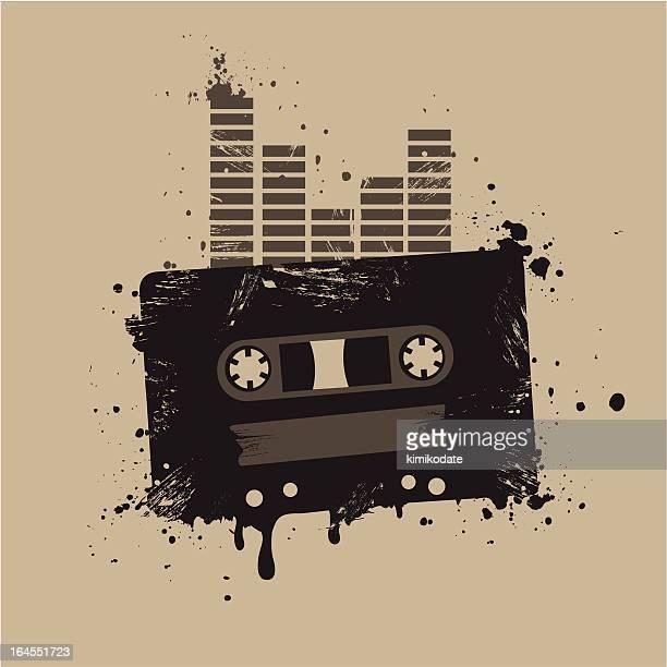 Grunge audio tape