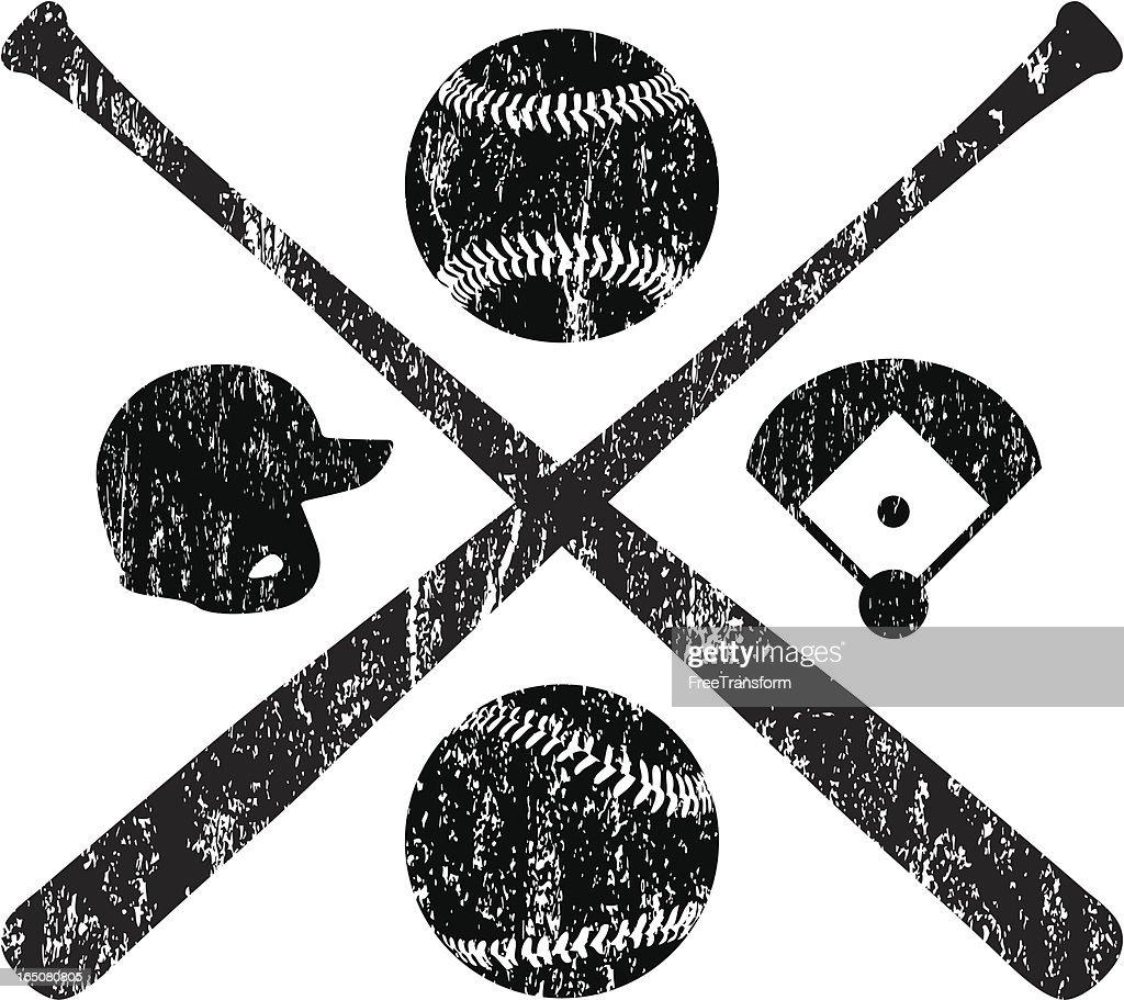 Grunge Baseball Elements