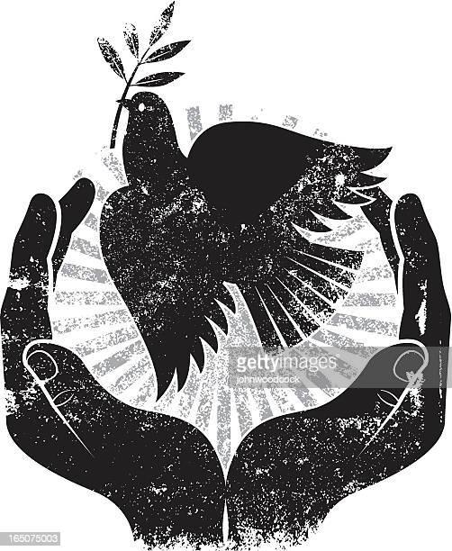 Grunge bird of peace