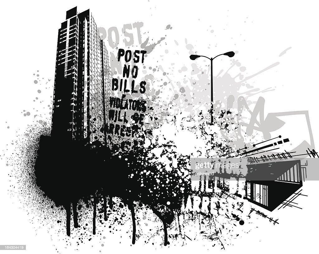 Grunge city building