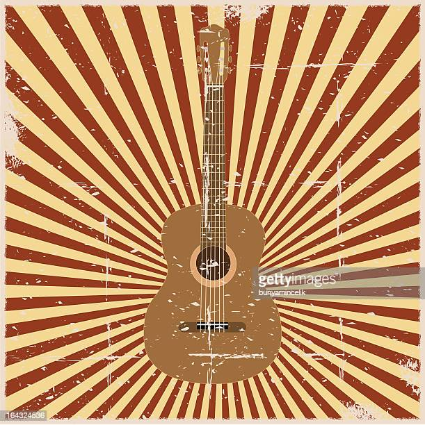 Grunge Classic Guitar Poster
