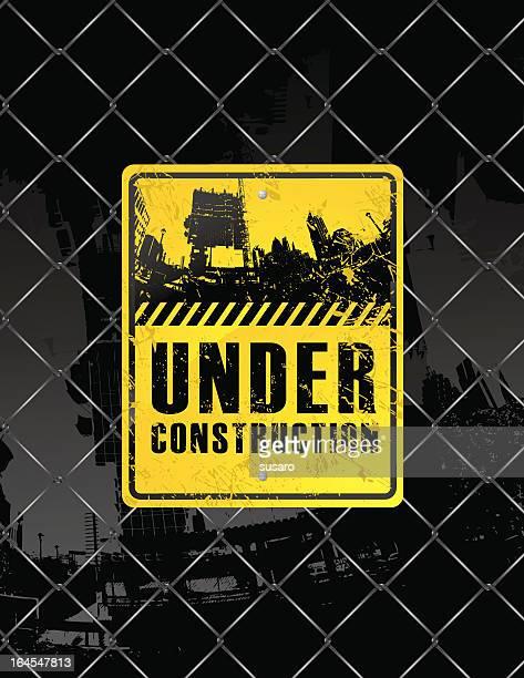 ilustrações, clipart, desenhos animados e ícones de grunge placa de construção - geórgia sul dos estados unidos