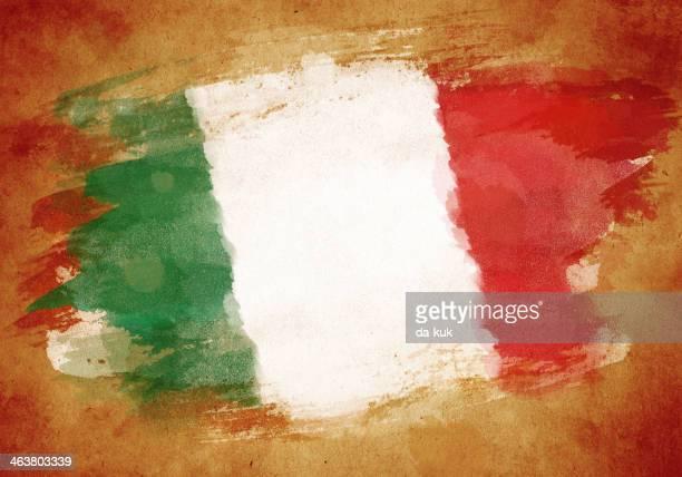 ilustrações, clipart, desenhos animados e ícones de bandeira de grunge da itália - itália