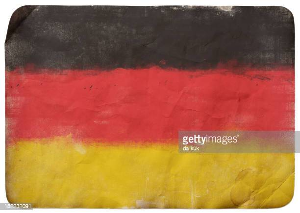 grunge flag on germany - rotting stock illustrations, clip art, cartoons, & icons