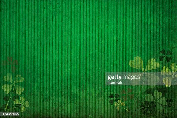 grunge green background with shamrocks - st. patrick's day stock illustrations, clip art, cartoons, & icons