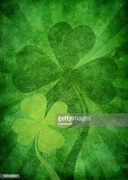 grunge green st. patrick background - grunge image technique stock illustrations