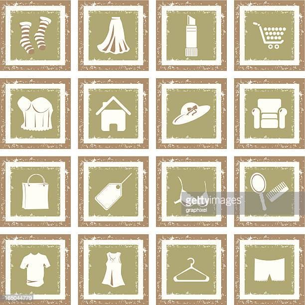 Grunge Icon Set - Shopping