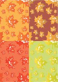 Grunge leaves pattern